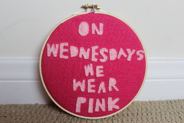 Embroidered 'Mean Girls' Hoop