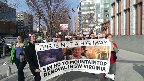 Coalfields Expressway protest
