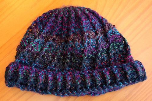 Crocheted hat by Helen in Wales