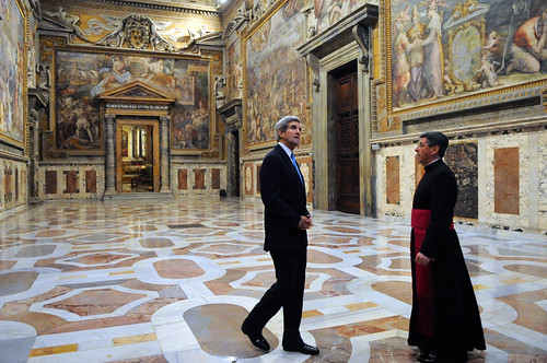 Secretary Kerry Receives a Tour of the Vatican from the Vatican Protocol Chief by U.S. Department of State