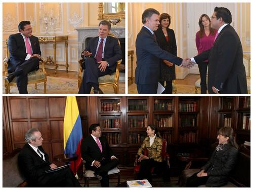 Embamex Colombia cartas credenciales Valdivia