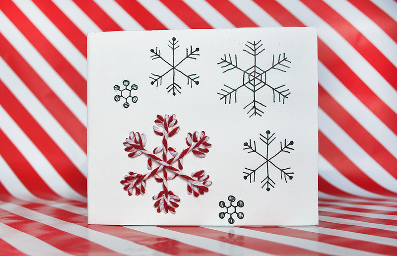 Christmas cards - snowflake design