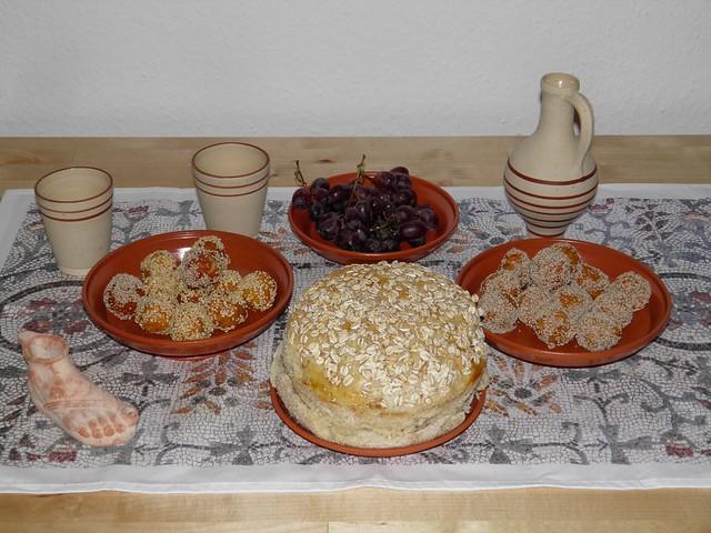 Globi (Cheese and Sesame Sweetmeats)