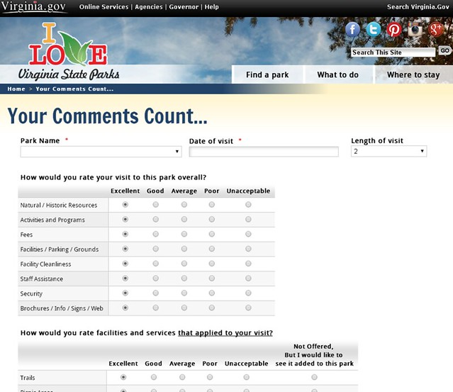 Your Comments Count Survey now available on line