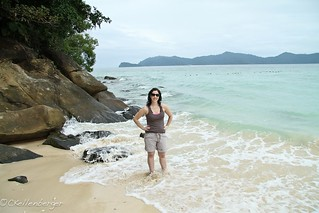 Carrie at Kota Kinabalu Beach