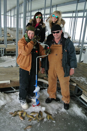 Girls about town get an ice fishing primer geist for Ice fishing indiana