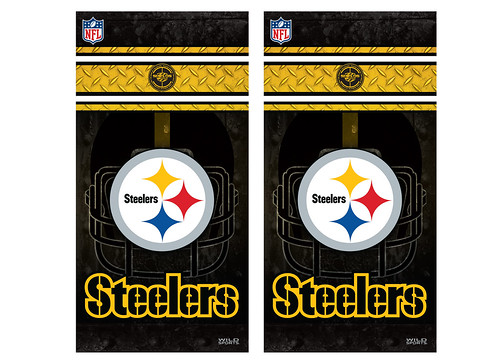 Pittsburgh Steelers Cornhole Game Decal Set