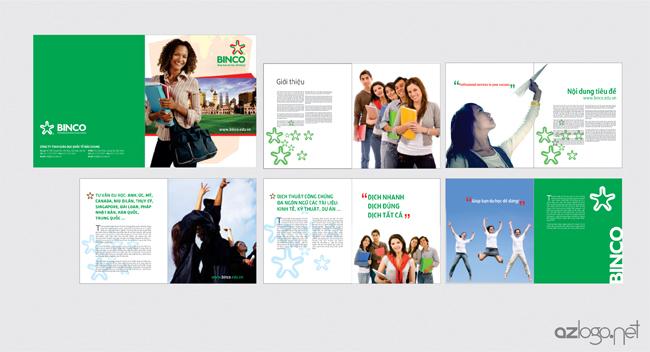 Thiết kế catalogues / Brochure Công ty tư vấn du học BINCO