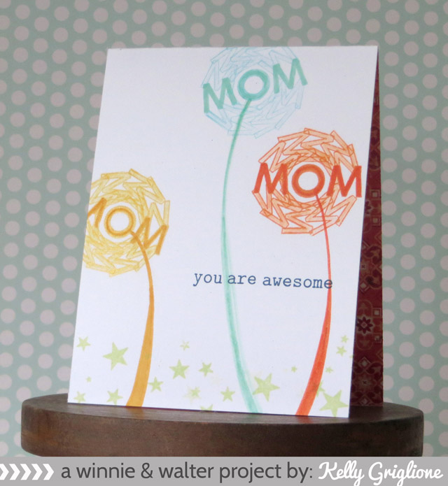 Kelly_MOM Text Flowers For Mothers Day Card