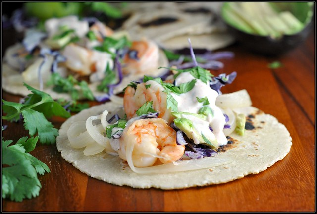 Honey Lime Tequila Shrimp Tacos 4