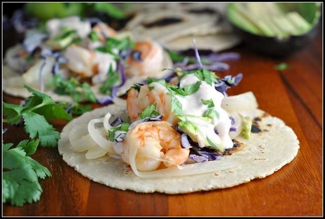 Honey Lime Tequila Shrimp Tacos 4