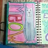 Meow! #artjournal #watercolors #aquamarkers #twinklingh2os