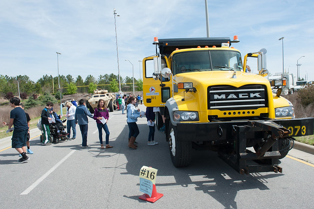 Truck Fair at Mills Park Middle School in Cary, NC on April 17, 2014.