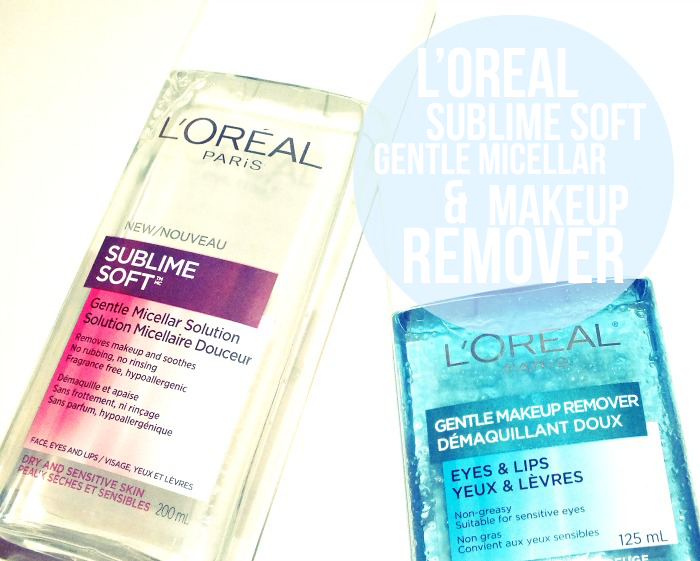 L'Oreal Sublime Soft Gentle Micellar Solution and Gentle Makeup Remover for Eyes & Lips