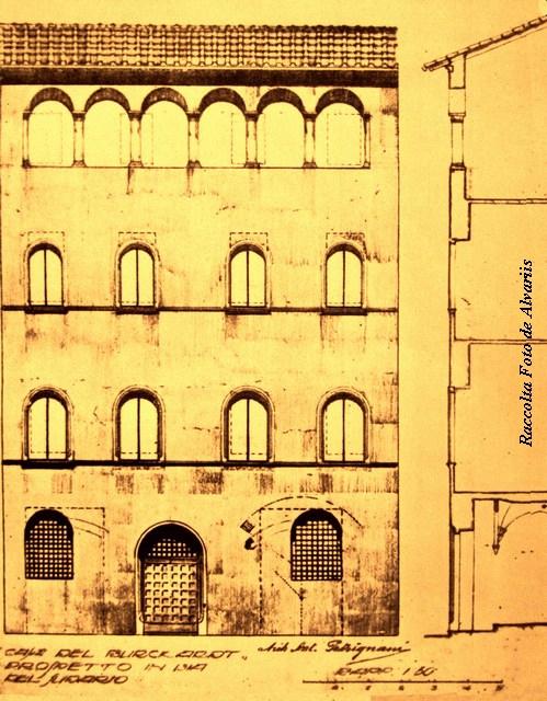 1930 ca 2015 Casa del Burcardo a, progetto di restauro via del Sudario Arch A. Petrignani