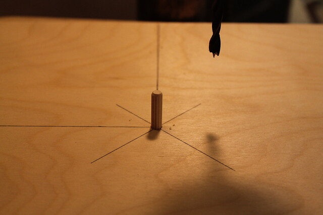 Plywood with center pin