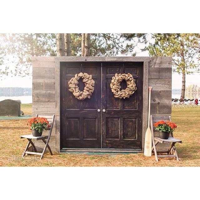 Outdoor Wedding Ceremony Doors: DIY Door Entrance To Ceremony Venue Millinocket Wedding