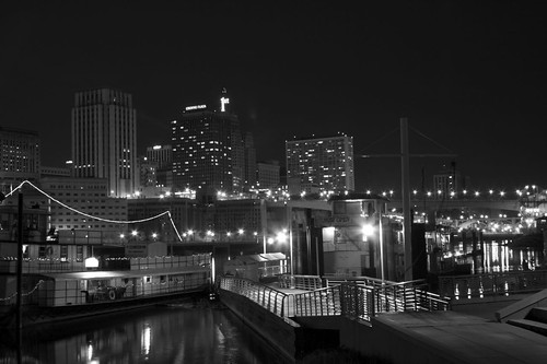 Mississippi River in Black and White