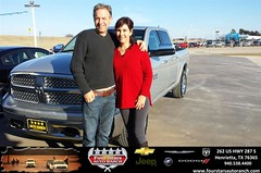 Four Stars Auto Ranch Chevrolet Buick  Chrysler Jeep Dodge Ram SRT Henrietta Texas Customer Reviews Dealer Testimonials - Robert and Nala Chambers
