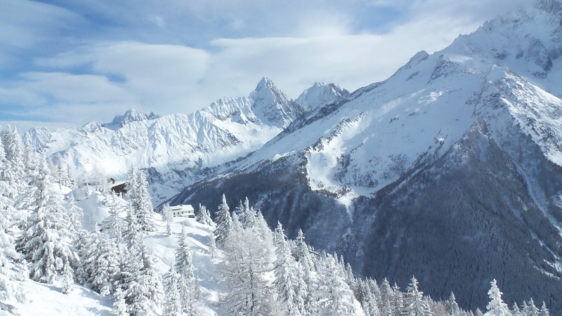Snow in Chamonix