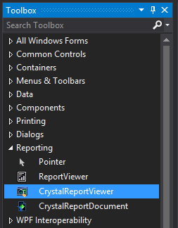 1. Add Crystal Report Viewer