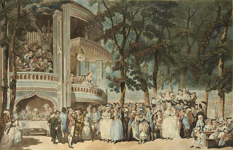 Thomas Rowlandson - Vauxhall Gardens (1785)