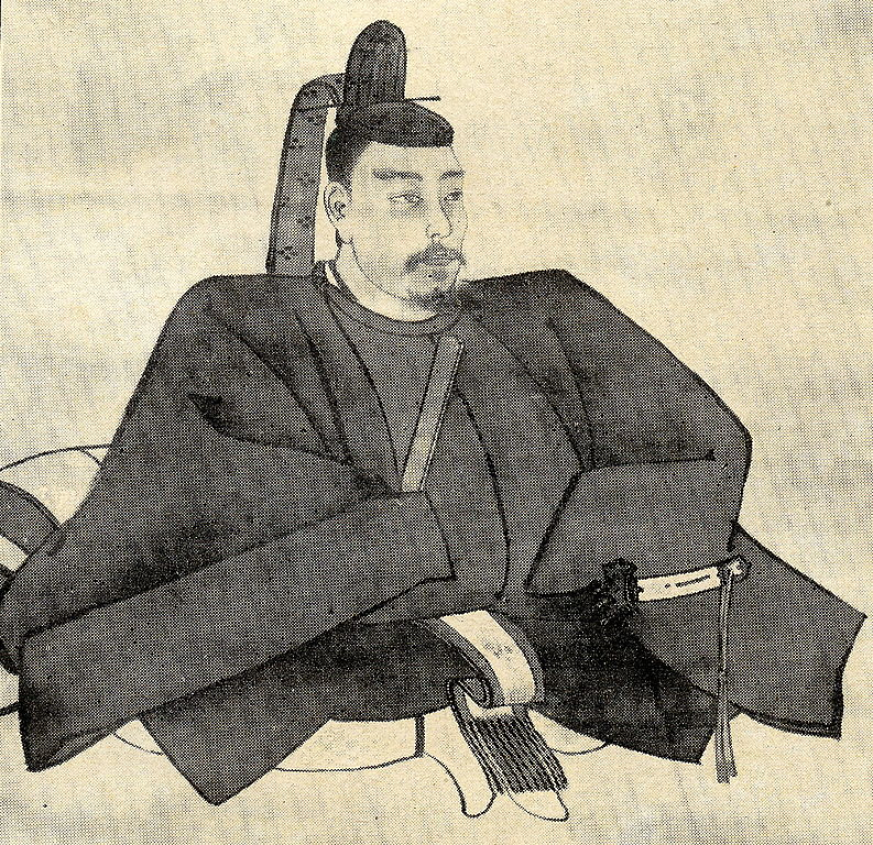 The picture of Minamoto no Yoritomo by Nakamura Fusetsu, a painter of Japan in Meiji and Taisho era