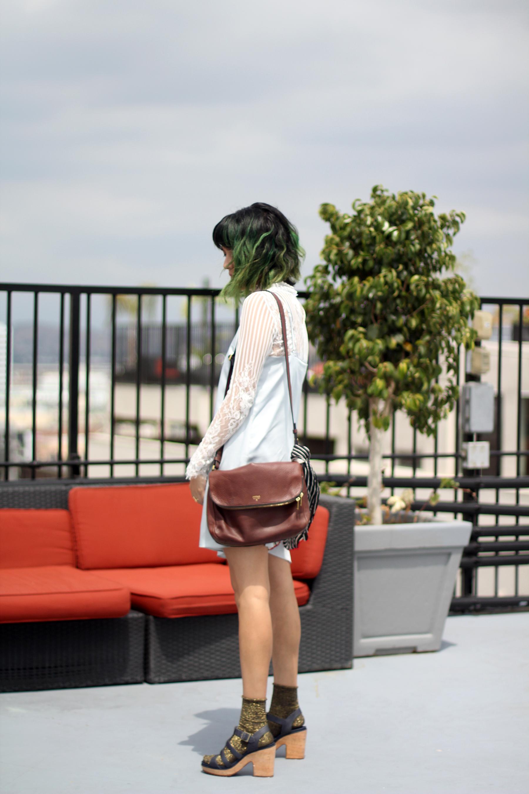 Zappos Timberland Powder Blue Slip, Lace blouse