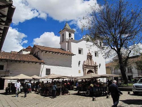 Cuenca: le marché aux fleurs