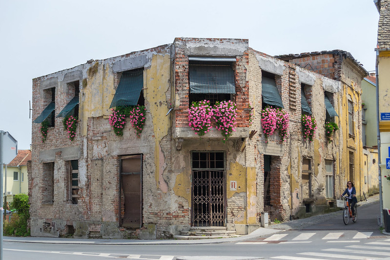 Vukovar War Torn Building