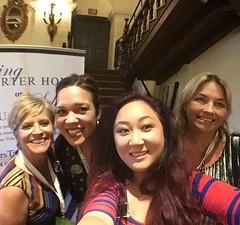 Kristi Munoz, Jennifer Higgins, Tina Jan, and April Schmidt at @dustin_bingaman learn and breakfast session! #missioninn #riversideca @kristimunoz @rejenniferh @abrella0429