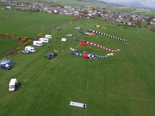 The WWKP banner at Millom kite festival .UK