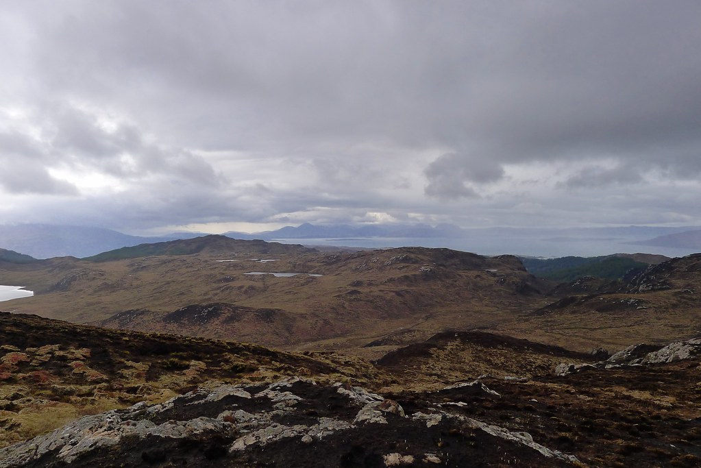 Looking towards Skye from Beinn Raimh