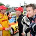 Ryan Hunter-Reay and Marco Andretti talk with winner Mike Conway