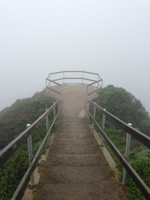 "Myst-like ""View"" Point over Muir Beach"