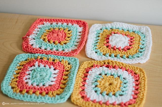Crochet Granny Squares Blanket WIP