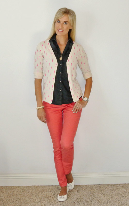 Outfit-seahorse cardi-chambray-pink