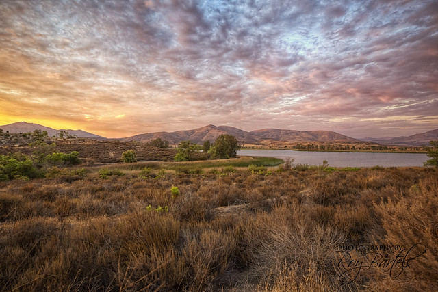 Beautiful Otay Lake at Dusk