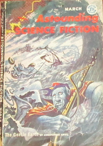 Cover of Astounding Science Fiction Mar 1958