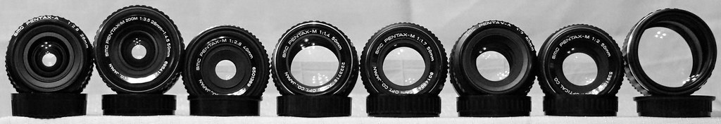 Vintage SMC Pentax Lens Collection