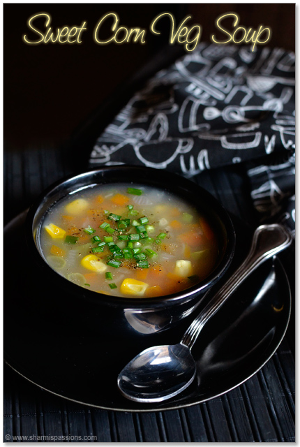 Sweet Corn Veg Soup Recipe