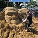 032-20130626_Somerset-Glastonbury Festival 2013-The Park-sand sculpture in progress near entrance to The Park