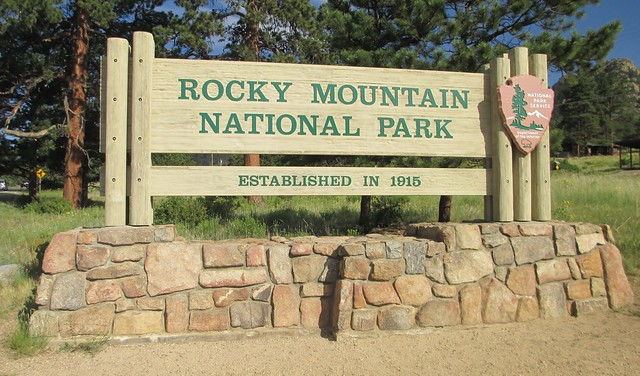 Rocky Mountain National Park Sign (Larimer County, Colorado)