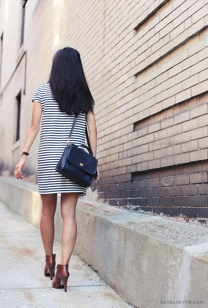 Striped Shift Dress4