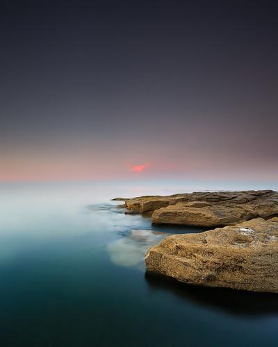 sunset seascape evening rocks northumberland seatonsluice nd09 rockyisland canonef1740mmƒ4lusm gnd045se