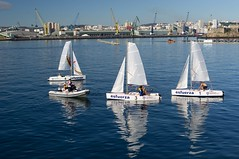 sailing ship(0.0), yacht(0.0), ship(0.0), windjammer(0.0), bay(0.0), marina(0.0), yacht racing(1.0), sail(1.0), sailboat(1.0), sailing(1.0), sailboat racing(1.0), vehicle(1.0), sailing(1.0), sports(1.0), sea(1.0), mast(1.0), harbor(1.0), dock(1.0), watercraft(1.0), dinghy sailing(1.0), boat(1.0),