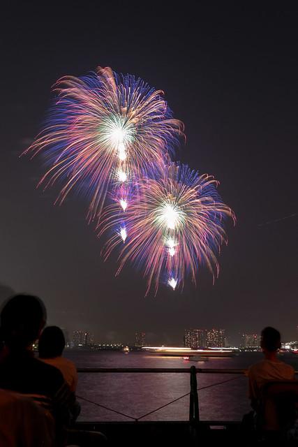 「昇小花 虹の華」 by 野村陽一 東京湾大華火 2013 Tokyo Bay Grand Fireworks