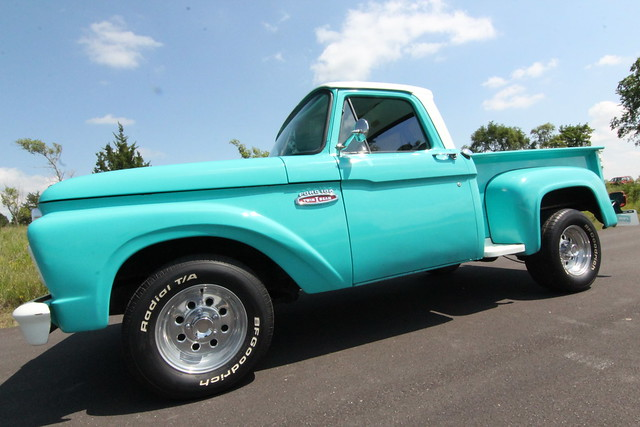 Muscle Car Ford >> 1965 Ford 100 Teal Truck | Flickr - Photo Sharing!