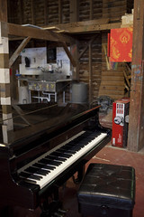 Piano in the Paints Barn