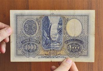 1927 Turkey 1000 Lira note